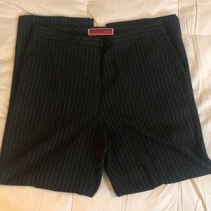 Merona Black pinstripe pants. Sz 12, but is small.